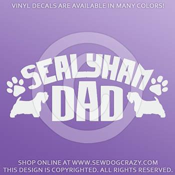 Sealyham Terrier Dad Vinyl Decals