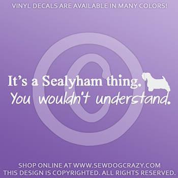 Funny Sealyham Terrier Car Decals