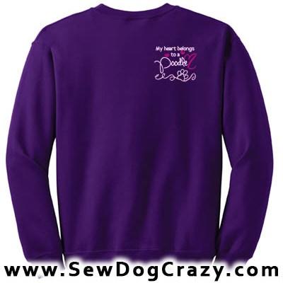 Embroidered Poodle Sweatshirts
