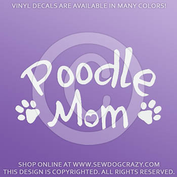Poodle Mom Car Decal