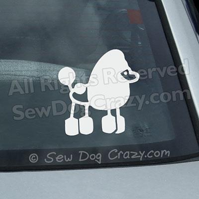 Poodle Stick Figure Car Window Sticker