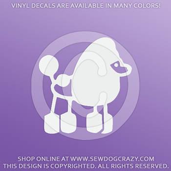Poodle Stick Figure Vinyl Sticker