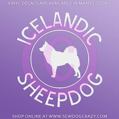 Icelandic Sheepdog Car Window Sticker