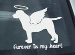 Angel Labrador Retriever Car Sticker