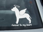Angel Pit Bull Car Window Sticker