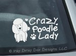 Crazy Poodle Lady Sticker