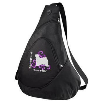 Embroidered Tibetan Terrier Bag