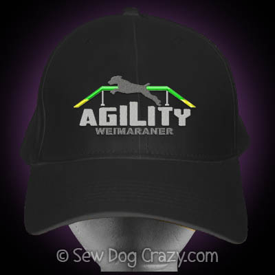 Embroidered Weimaraner Agility Hat