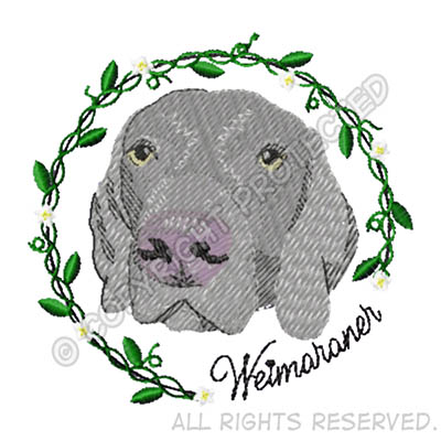 Embroidered Weimaraner Shirts