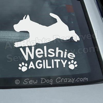 Welsh Terrier Agility Decals