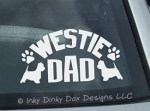 Westie Dad Car Sticker