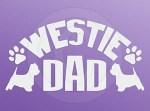 Westie Dad Car Decal