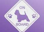 Westie On Board Car Window Sticker