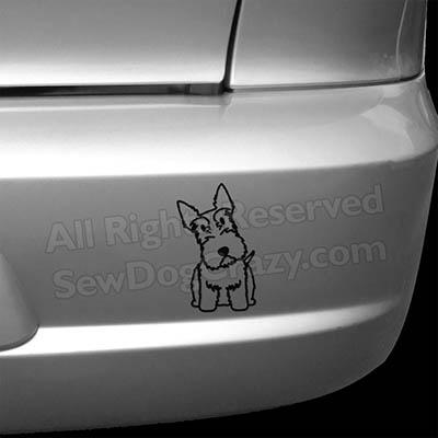 Cartoon Scottie Dog Bumper Stickers