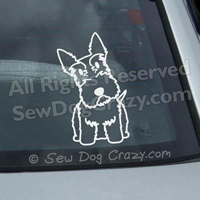 Cartoon Scottish Terrier Vinyl Decals