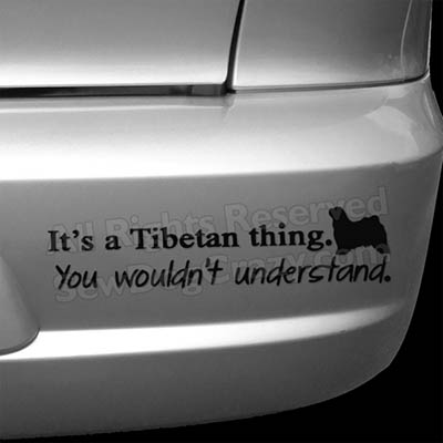 Tibetan Terrier Bumper Stickers