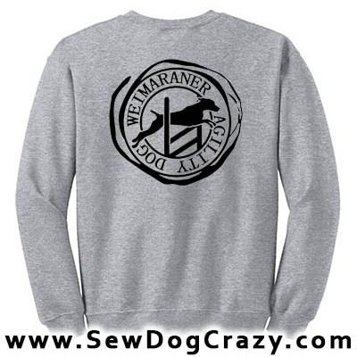 Weimaraner Agility Sweatshirts