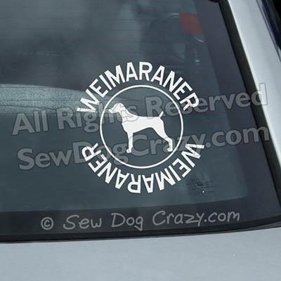 Weimaraner Car Window Sticker