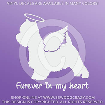 Angel Westie Vinyl Decals