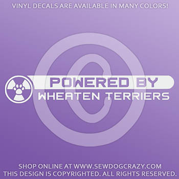 Powered by Wheaten Terriers Vinyl Stickers