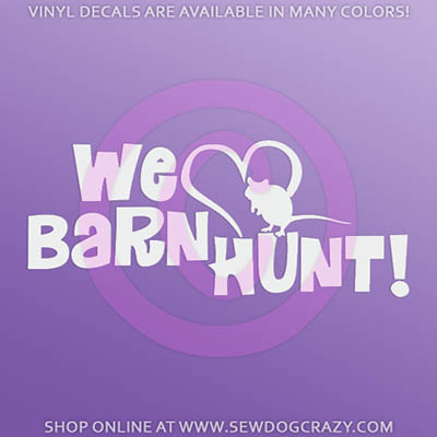 We Love Barn Hunt Car Stickers