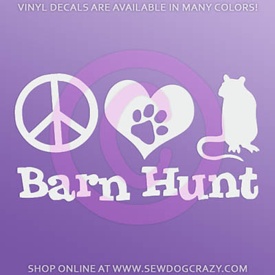 Peace Love Barn Hunt Stickers