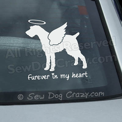 Angel German Wirehaired Pointer Decal