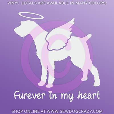 Angel German Wirehaired Pointer Sticker
