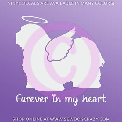 Angel Havanese Car Window Sticker