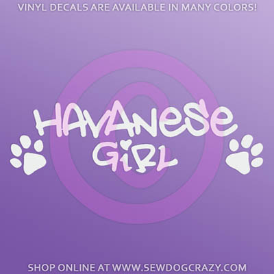 Havanese Girl Car Decal