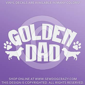 Vinyl Golden Retriever Dad Decals