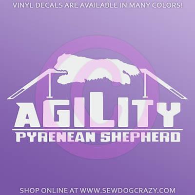 Pyrenean Shepherd Agility Decals