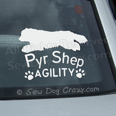 Pyrenean Shepherd Agility Car Stickers