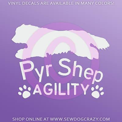 Pyrenean Shepherd Agility Stickers