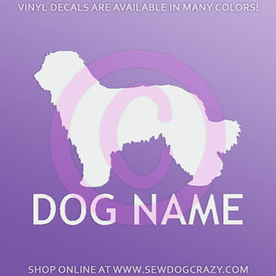 Personalized Pyrenean Shepherd Car Decals