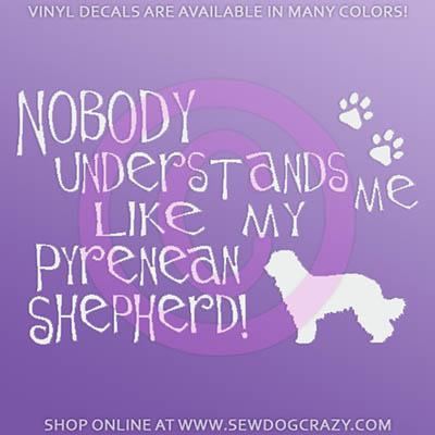 Funny Pyrenean Shepherd Decals
