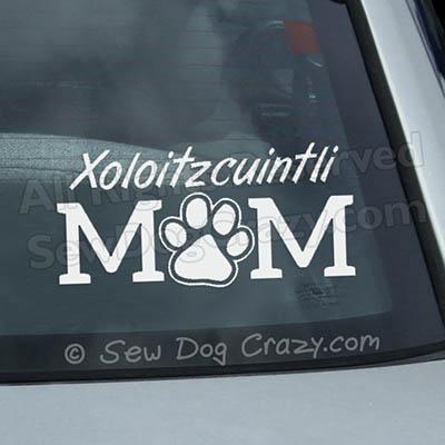Xoloitzcuintli Mom Car Window Sticker