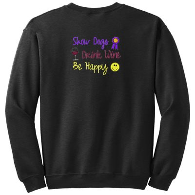 Embroidered Dog Show Sweatshirt