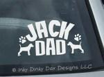 Jack Russell Dad Car Window Sticker