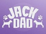 Jack Russell Terrier Dad Car Sticker