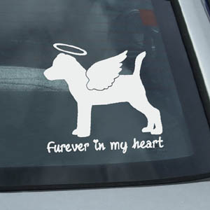 Angel Jack Russell Terrier Car Window Sticker