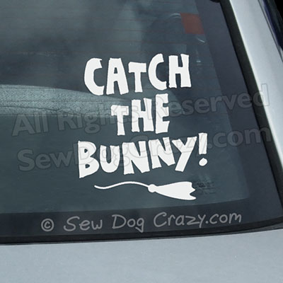 Lure Coursing Bunny Car Stickers