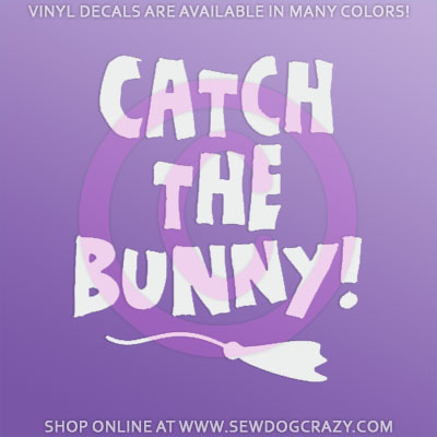 Lure Coursing Bunny Stickers