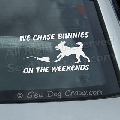Funny Lure Coursing Car Window sticker
