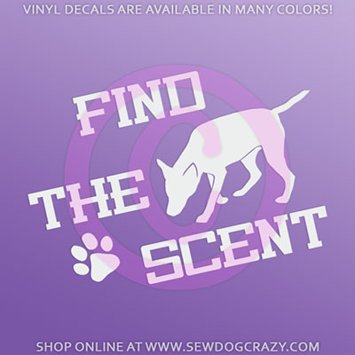 Scent Work Car Stickers