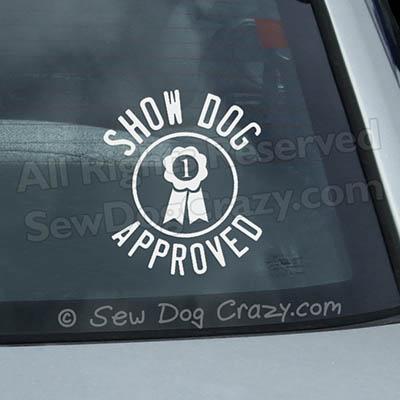 Show Dog Car Window Sticker
