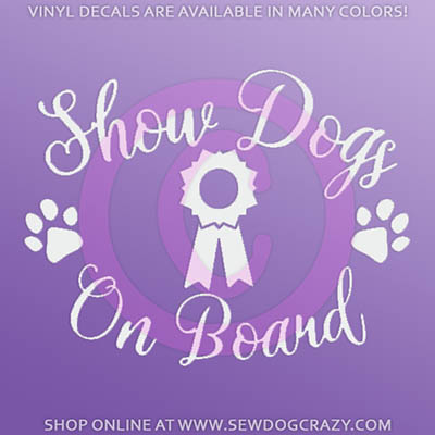 Show Dogs On Board Car Sticker