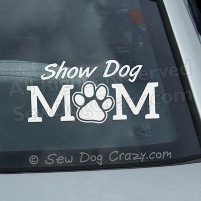 Paw Print Show Dog Mom Decal