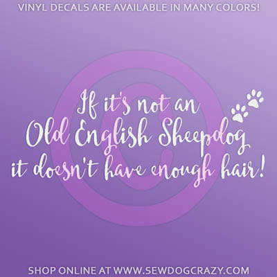 Funny Old English Sheepdog Decals