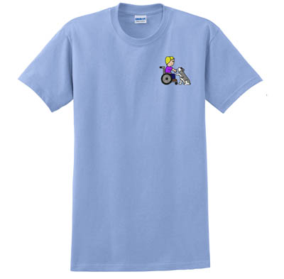Embroidered Schnauzer Therapy Dog TShirt